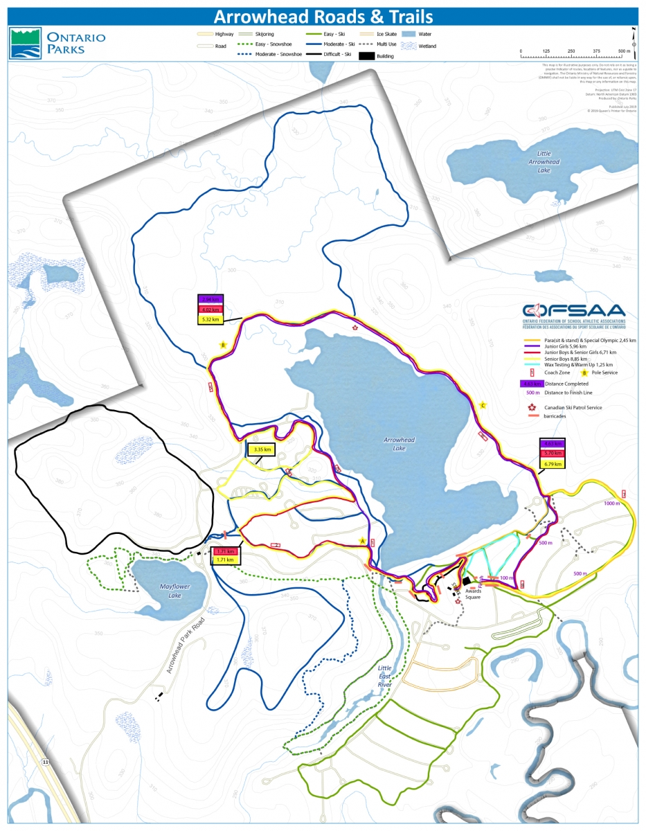 Course map overvview